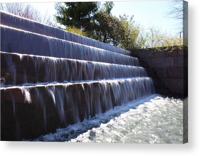 America Acrylic Print featuring the photograph Fdr Memorial - Washington Dc - 01134 by DC Photographer