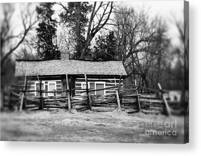 Black And White Acrylic Print featuring the photograph Fenced In by Erin Johnson