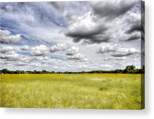 Field Acrylic Print featuring the photograph Fields Of Glory by Tom Parash