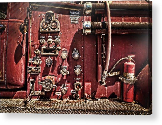 Kansas Acrylic Print featuring the photograph Fire Truck Valves by Ken Smith