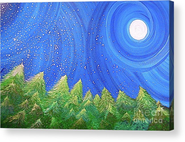 Snow Acrylic Print featuring the painting First Snow By Jrr by First Star Art