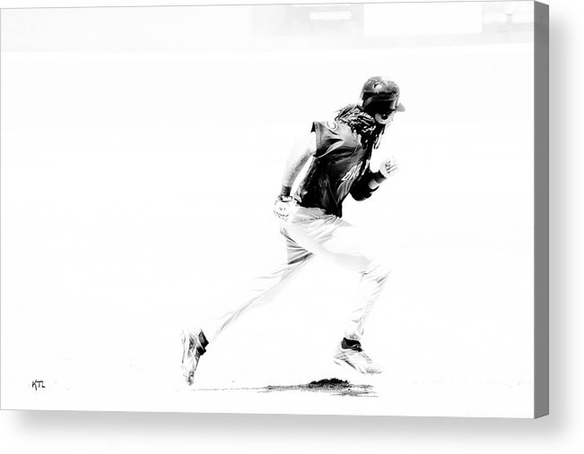 Baseball Acrylic Print featuring the photograph Flash by Karol Livote