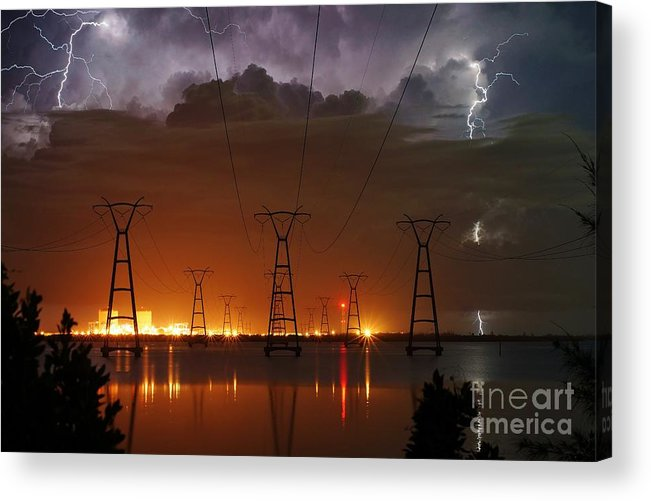 Lightning Acrylic Print featuring the photograph Florida Power And Lightning by Lynda Dawson-Youngclaus