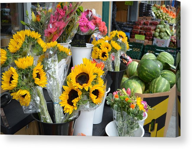 Flowers Acrylic Print featuring the photograph Flower Market by Mike Hinton