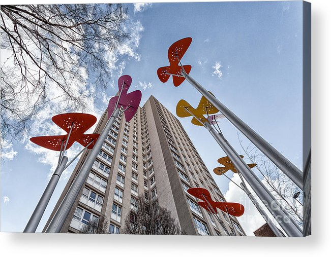 Glasgow Art Installation Acrylic Print featuring the photograph Flowers Glasgow by John Farnan