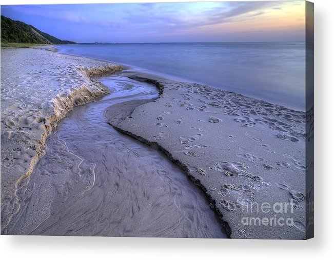 Lake Acrylic Print featuring the photograph Flowing Into Lake Michigan by Twenty Two North Photography