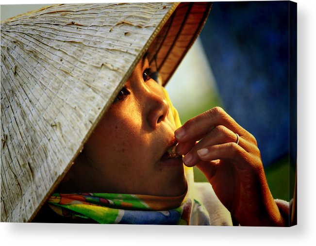 Girl Acrylic Print featuring the photograph For Survival by Suradej Chuephanich