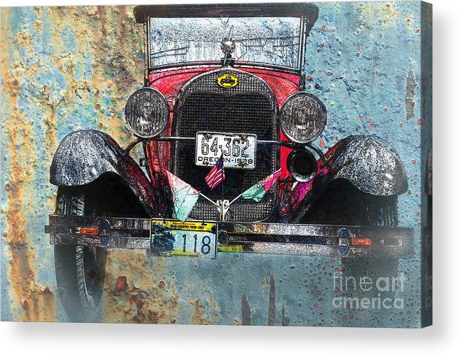 Car Acrylic Print featuring the photograph Ford Model A 1928 Oldtimer by Heiko Koehrer-Wagner