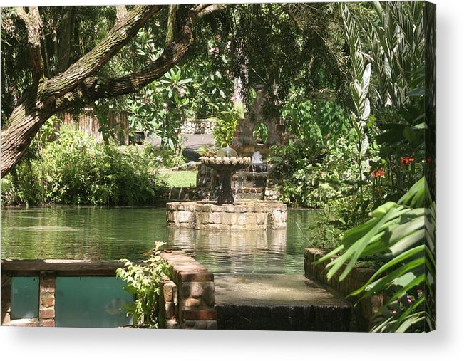 Fountain Acrylic Print featuring the photograph Fountain Of Youth by Dervent Wiltshire