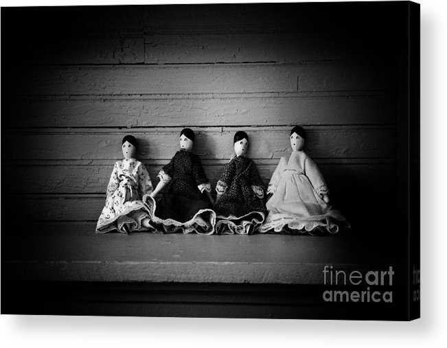 Antique Acrylic Print featuring the photograph Four Dollies by Valerie Johnson