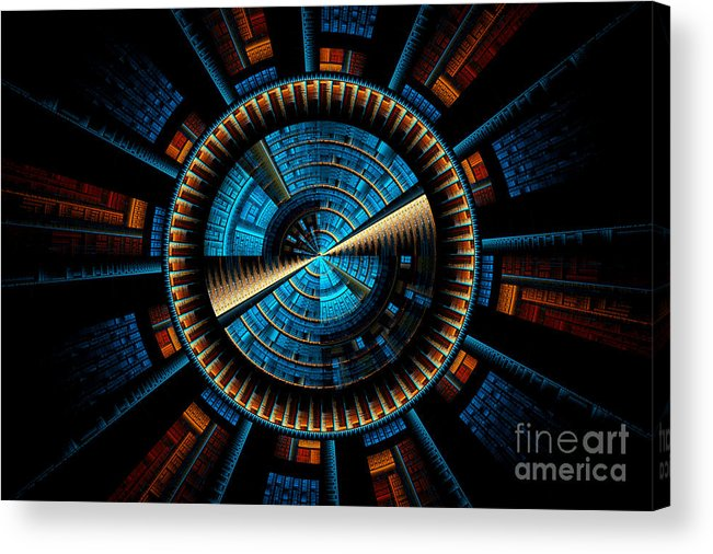Fractal Acrylic Print featuring the digital art Fractal City by Sven Fauth
