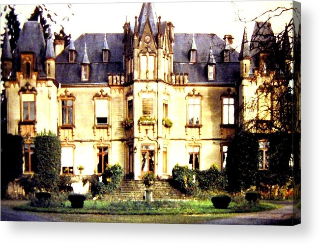 French Chateau 1955 Acrylic Print featuring the photograph French Chateau 1955 by Will Borden