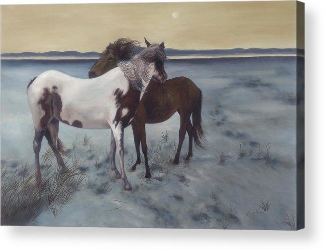 Horses Acrylic Print featuring the painting Friends by Glenda Stevens