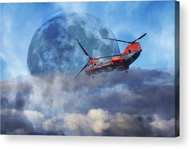 Full Acrylic Print featuring the photograph Full Moon Rescue by Betsy Knapp