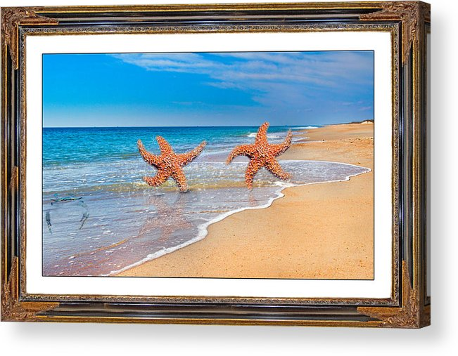 Beach Acrylic Print featuring the mixed media Fun For A Day by Betsy Knapp