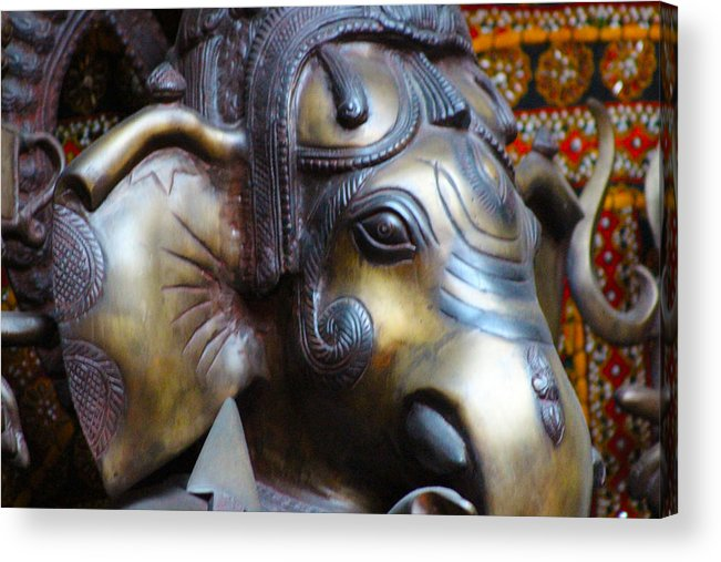 Ganesh Acrylic Print featuring the photograph Ganesh Bodhi by Jeanean Gendron