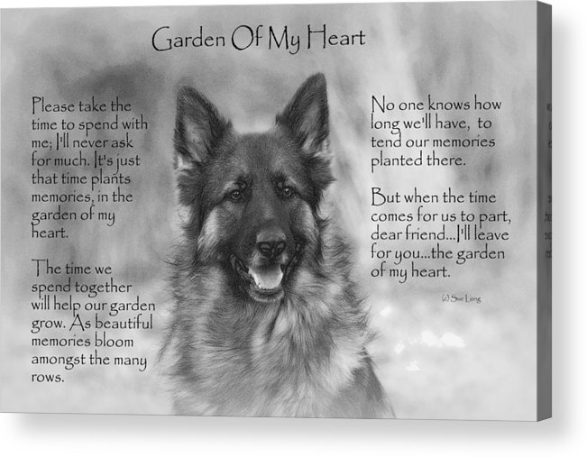Quote Acrylic Print featuring the photograph Garden Of My Heart by Sue Long
