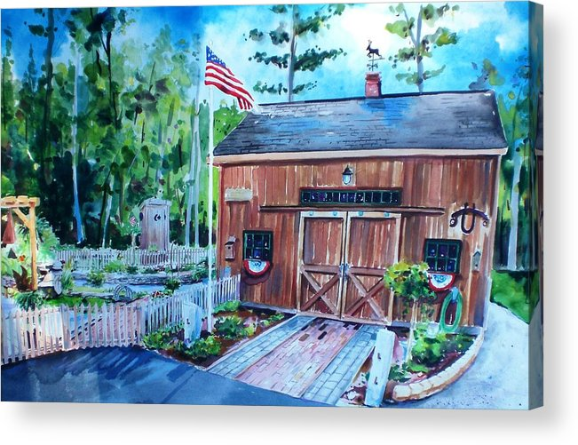 Shed Acrylic Print featuring the painting Gardening Shed by Scott Nelson
