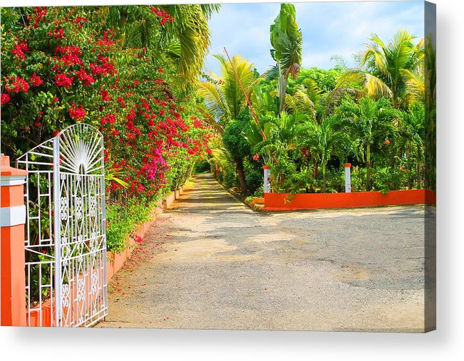 Gate Acrylic Print featuring the photograph Gateway To Jamaica by Debbie Levene