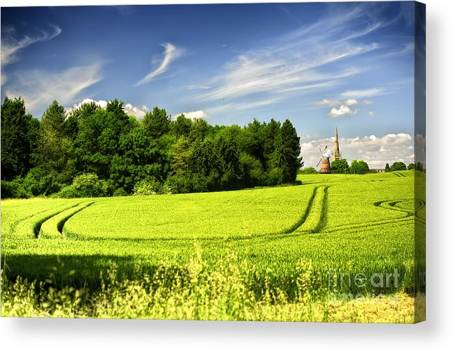 Thaxted Acrylic Print featuring the photograph Gathering The Crop To Thaxted Mill Essex Uk by Jack Torcello