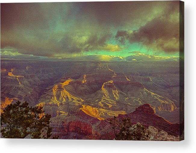 Grand Canyon Acrylic Print featuring the photograph Gentle Sunrise Over The Canyon by Lisa Spencer