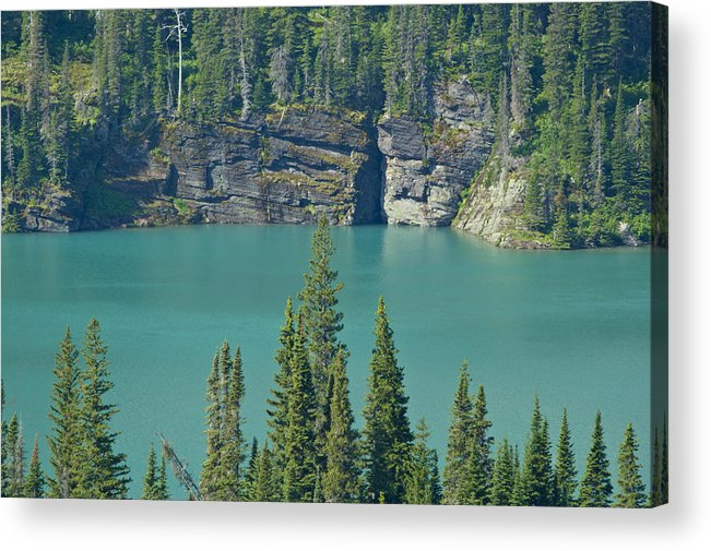 Montana Acrylic Print featuring the photograph Glacier Lake by Brian Kamprath