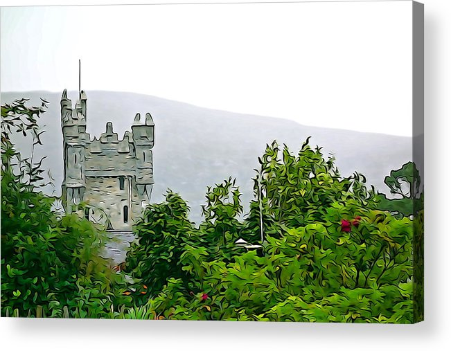 Tower Acrylic Print featuring the photograph Glenveagh by Charlie and Norma Brock