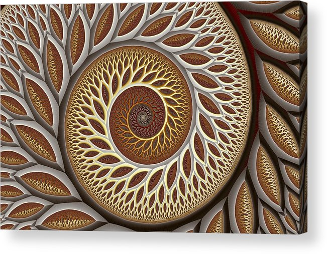 Abstract Acrylic Print featuring the digital art Glynn Spiral No. 2 by Mark Eggleston