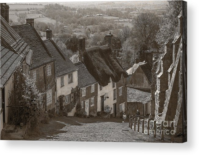 Gold Hill Acrylic Print featuring the photograph Gold Hill by Ivor Toms