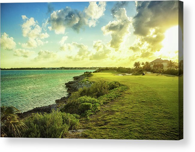 Scenics Acrylic Print featuring the photograph Golf Course by Chang