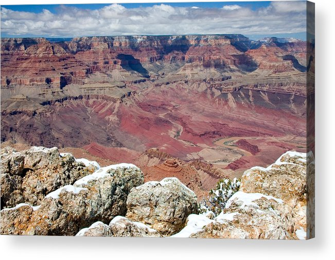 Landscape Acrylic Print featuring the photograph Grand Canyon In Arizona by Julia Hiebaum