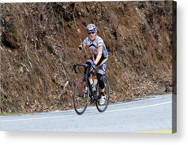 Sport Acrylic Print featuring the photograph Grand Fondo Bike Ride by Susan Leggett