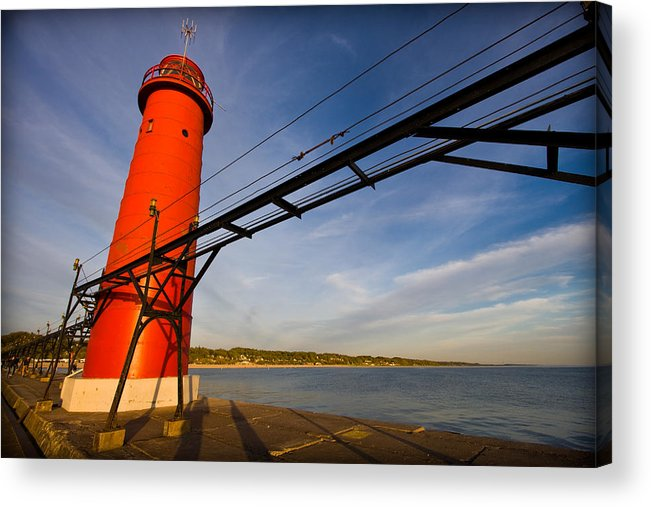3scape Photos Acrylic Print featuring the photograph Grand Haven Lighthouse by Adam Romanowicz