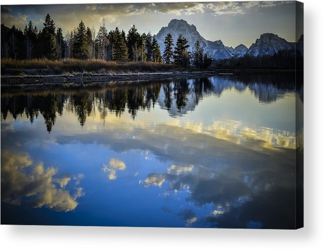Sunset Acrylic Print featuring the photograph Grand Teton Sunset by RiverNorth Photography