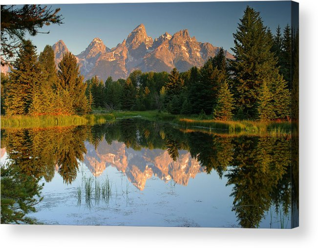 Mountains Acrylic Print featuring the photograph Grand Tetons by George Herbert