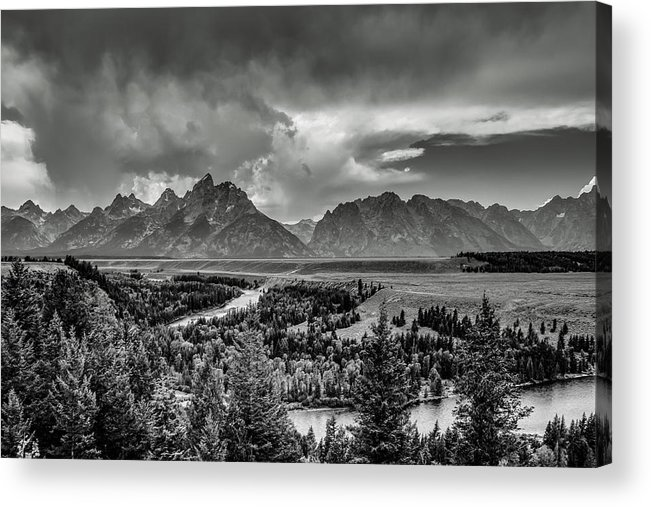 Grand Teton National Park Acrylic Print featuring the photograph Grand View by Emily Dickey