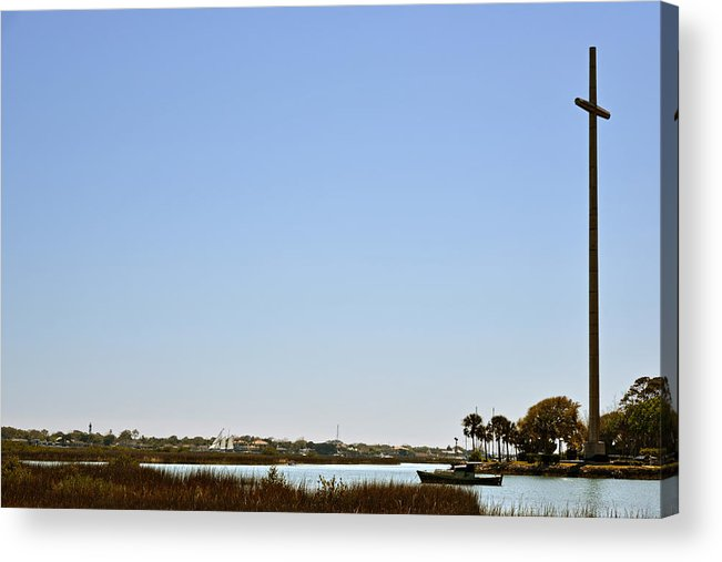 Great Acrylic Print featuring the photograph Great Cross - Nombre De Dios - St Augustine by Christine Till