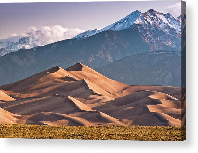 Scenics Acrylic Print featuring the photograph Great Sand Dunes Nat Park, Sangre De by Witold Skrypczak