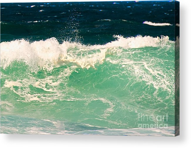 Pacific Grove Acrylic Print featuring the photograph Green Wave Pacific Grove Ca by Artist and Photographer Laura Wrede