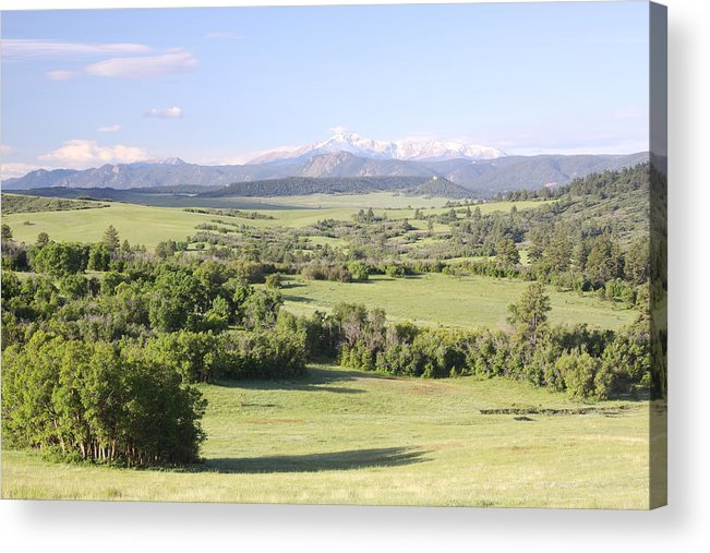 Colorado Acrylic Print featuring the photograph Greenland Ranch by Eric Glaser