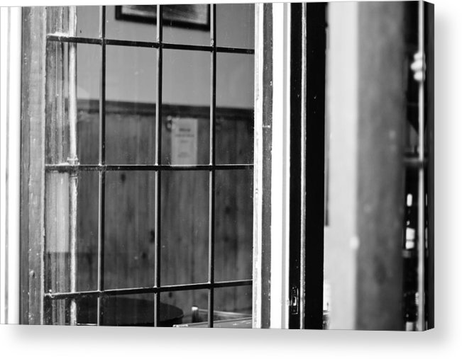 Black And White Cityscape Acrylic Print featuring the photograph Grid In Glass by William Crenshaw