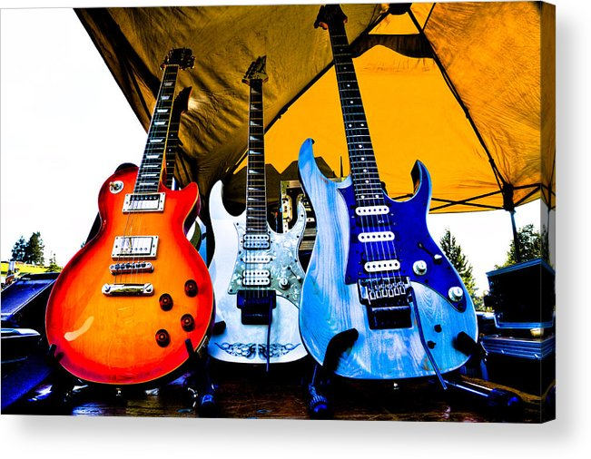 The Kingpins Acrylic Print featuring the photograph Guitar Trio by David Patterson