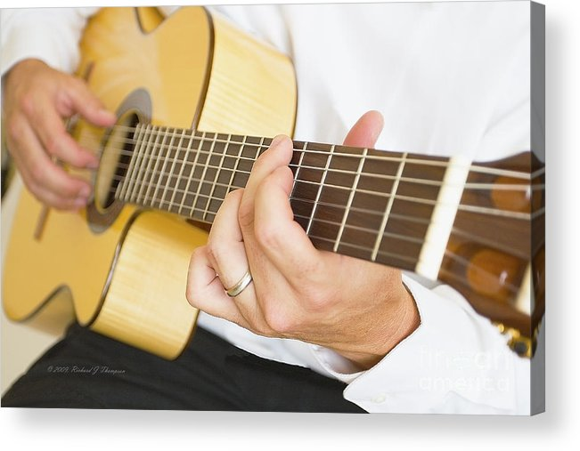 Guitar Acrylic Print featuring the photograph Guitarist by Richard J Thompson