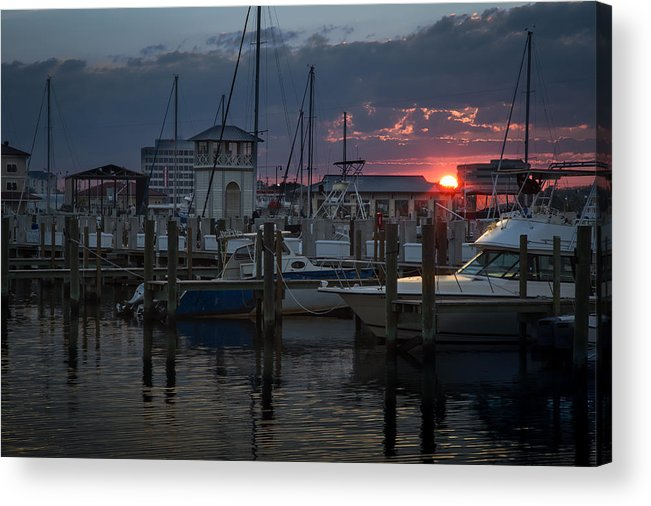 Acrylic Print featuring the photograph Gulfport Sunset by Ron Maxie
