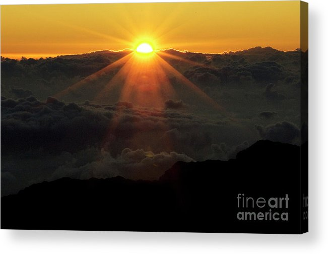 Hawaii Acrylic Print featuring the photograph Haleakala Sunrise by Bob Christopher