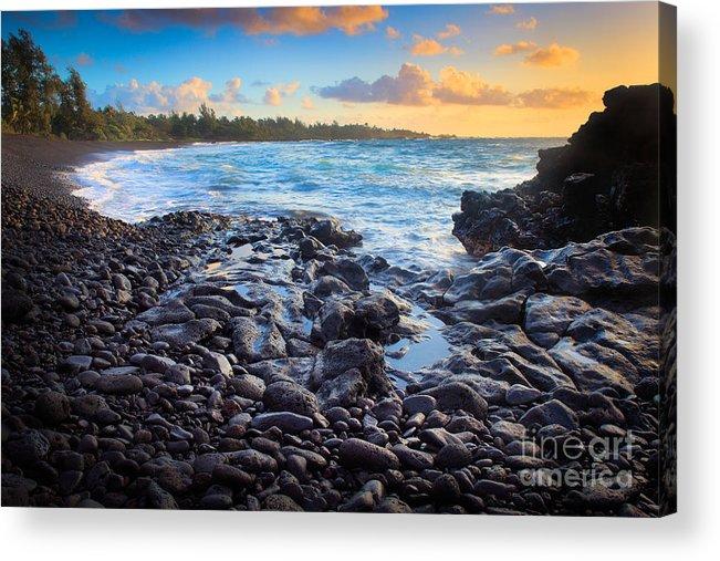 America Acrylic Print featuring the photograph Hana Bay Sunrise by Inge Johnsson