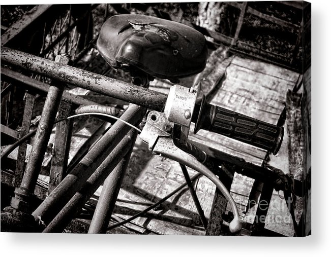 Bike Acrylic Print featuring the photograph Handlebar by Olivier Le Queinec