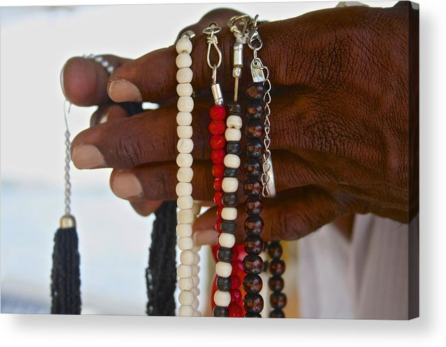 Hands Acrylic Print featuring the photograph Hands by Sandra Vieira