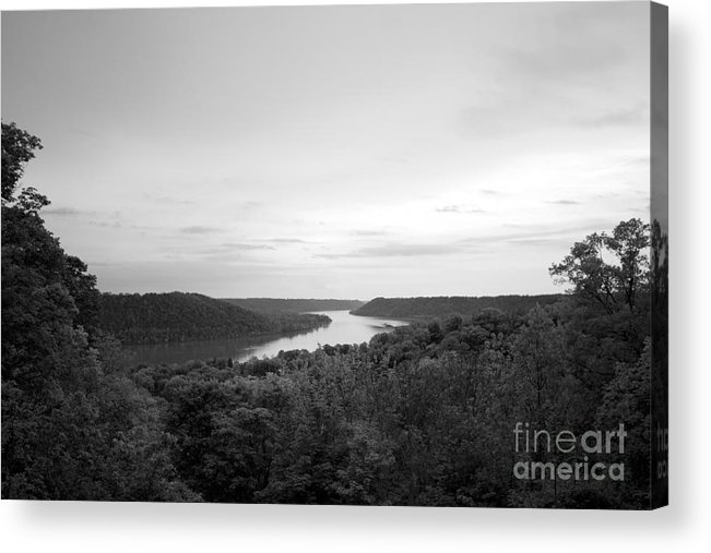Hanover Acrylic Print featuring the photograph Hanover College Ohio River View by University Icons