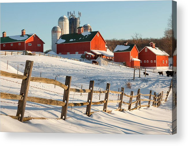 Barnyard Acrylic Print featuring the photograph Happy Acres Farm by Bill Wakeley